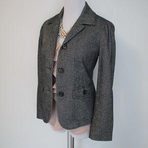 TALBOTS Size 4P Gray Suit Jacket Blazer